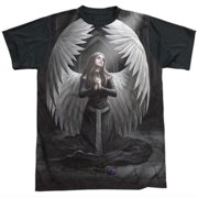 Anne Stokes - Prayer For The Fallen - Short Sleeve Black Back Shirt - XXX-Large