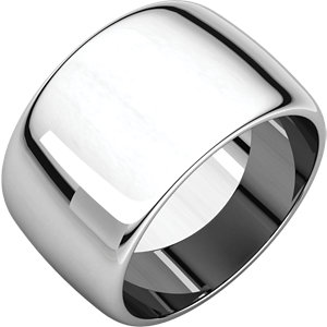 Continuum Sterling Silver 12mm Half Round Band