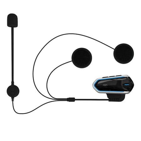 B35 4.1+EDR Motorcycle Helmet Headsets Waterproof Low Consumption Wireless Earphone Earbuds Support FM Radio