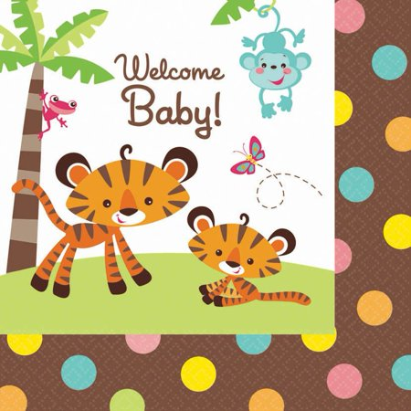 Fisher Price Baby Luncheon Napkins (16 Pack) - Baby Shower Party - Party City Fishers In