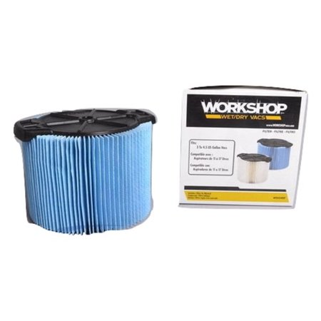 Pro team WorkShop 3, 4, 5 Gallon Short Cartridge Filter 3 Ply Blue Part - WS12045F, WS0500VA