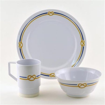 Galleyware 1090-S 18 Decorated Melamine Non-skid 18 Piece Dinnerware Gift (Non Skid Dinnerware)