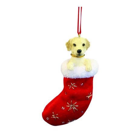Little Stockings (Santa's Little Pals Yellow Labrador Stocking Christmas)