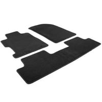 Black Latex Floor Mats Carpet Front Rear 2-Piece Set for 1990-1997 Mazda Miata MX-5