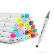 Ohuhu 40 Colors Dual Tips Permanent Marker Pens Art Markers for Kids, Highlighter Pen with Carrying Case for Drawing Sketching Adult Coloring Highlighting and Underlining