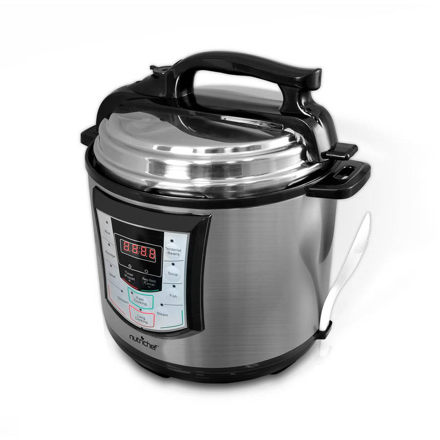 NutriChef Digital Electronic Pressure Cooker and Slow Cooker