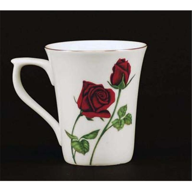 Euland China FL2-002R Set Of Two 12-Ounce Mugs - Roses