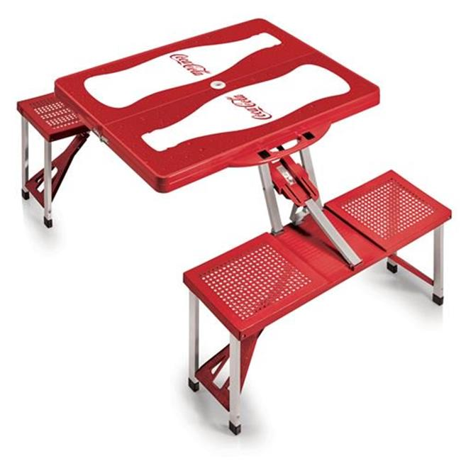 Coca Cola Portable Picnic Table, Red Coke Bottle, Red by Go-for-Gold