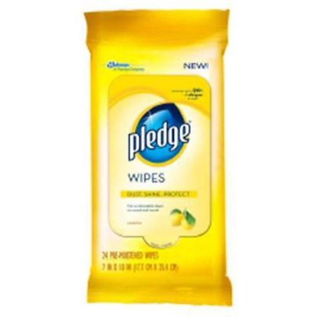 Pledge Lemon Furniture Wipes Disposable Dust Cloths Pre-Moist 2PK (Pledge Dust Cloths)