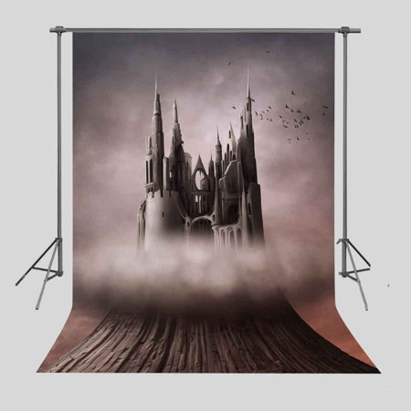 HelloDecor Polyster 5x7ft Fairytale Castle Backdrop Photography Background Props](90s Props)