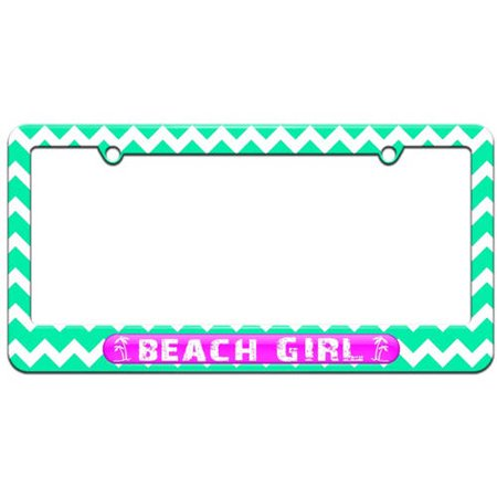 Beach Girl Pink, Island Palm Trees License Plate Tag Frame, Multiple ...