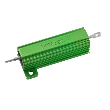 Unique Bargains 50W Watt 12 Ohm Aluminum Shell Wirewound Resistor - Green Resistor