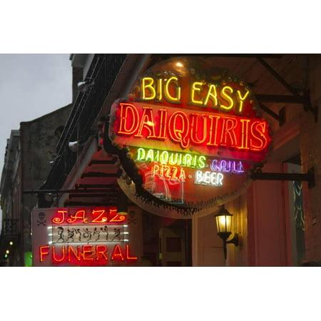 Halloween On Bourbon Street New Orleans (Neon Signs on Bourbon Street, French Quarter, New Orleans, Louisiana, USA Print Wall Art By Jamie & Judy)
