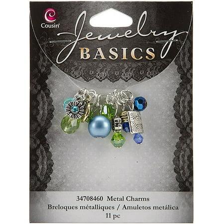 Cousin Jewelry Basics Metal Charms, 11pk