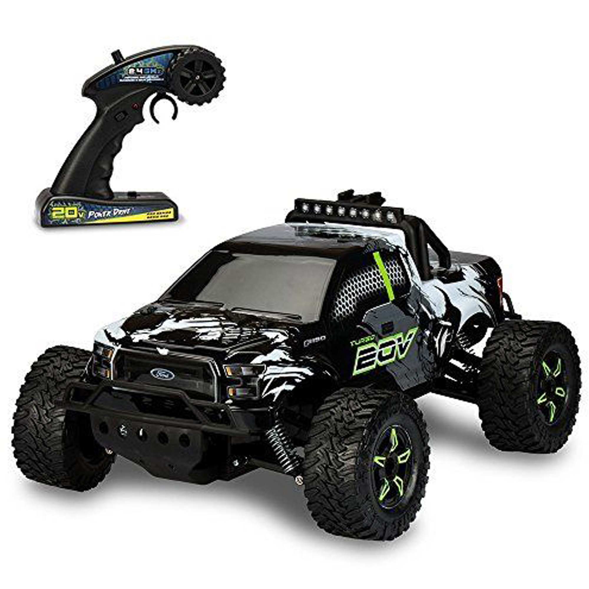 Kid Galaxy Ford F150 Remote Control Truck. Fast 30 MPH All Terrain Off-road RC Car