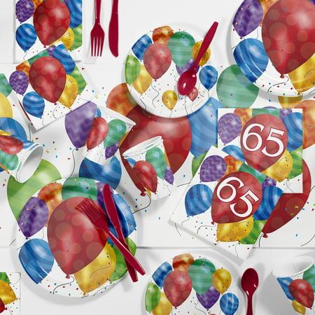 Balloon Blast 65th Birthday Party Supplies Kit - 65th Birthday Party Ideas