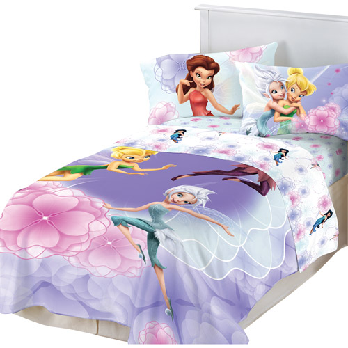 Disney Fairies Floral Frolic Twin/Full Reversible Comforter