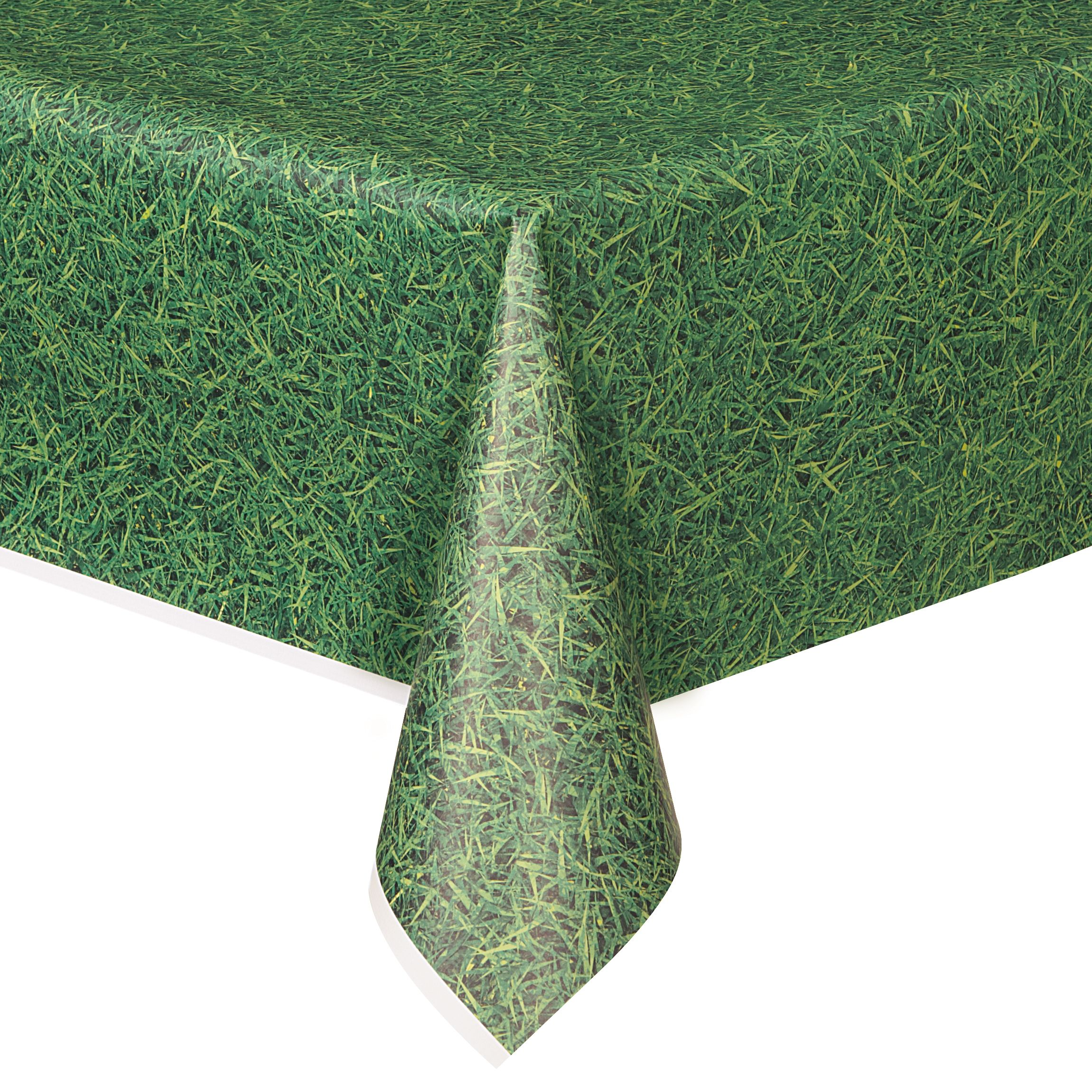 Green Grass Printed Plastic Party Tablecloth 108 X 54in Walmart Com