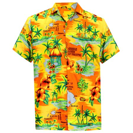 a16b38f8 HAPPY BAY - Hawaiian Shirt Mens Beach Aloha Camp Party Casual Holiday  Tropical Shirt Palm Tree Print B - Walmart.com