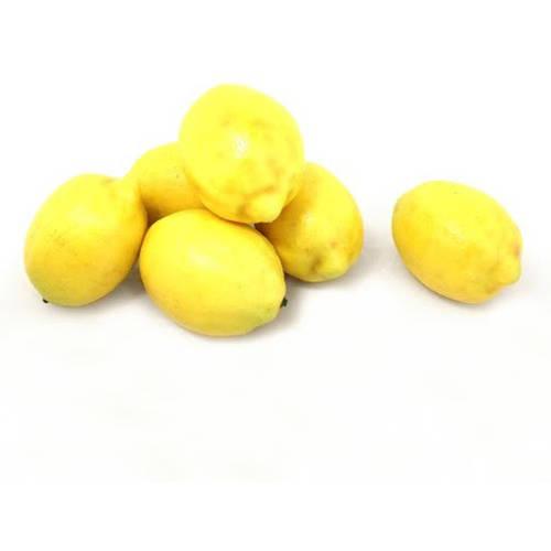 ALEKO 6AFLEM Decorative Realistic Artificial Fruits, Set of 6 Lemons