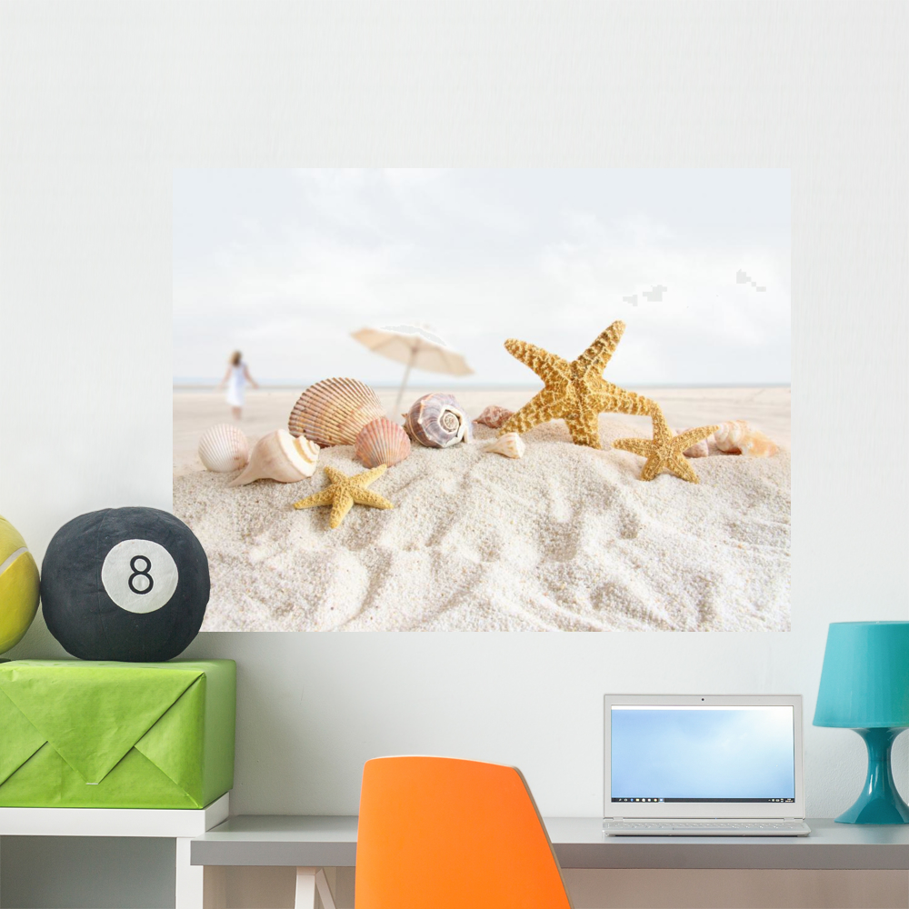 Starfish And Seashells Beach Wall Decal By Wallmonkeys Peel And