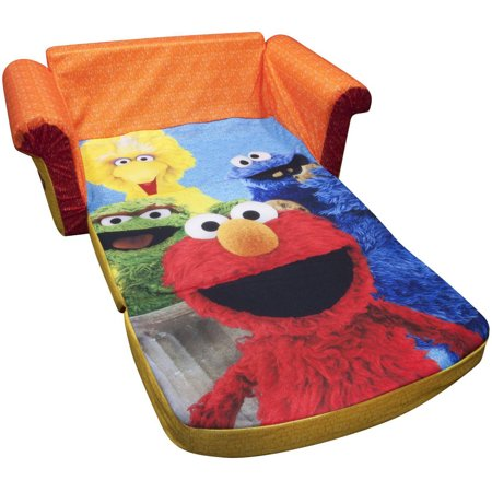 Marshmallow 2 in 1 Flip Open Sofa Sesame Streets Elmo