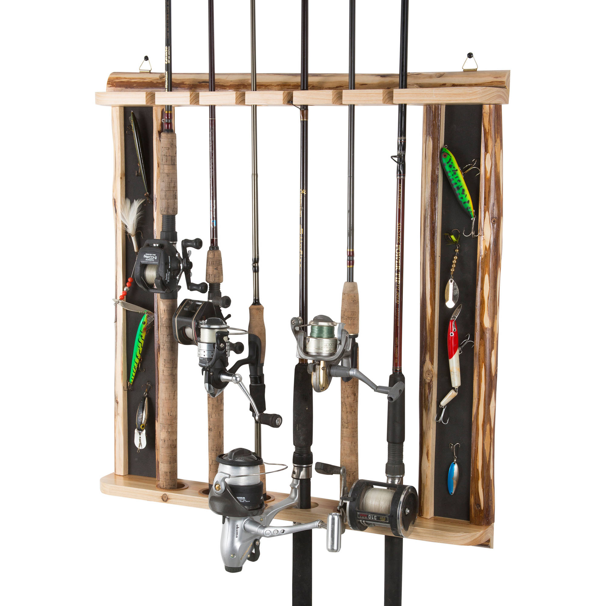 Rush Creek Creations 6-Fishing-Rod Vertical and Horizontal Storage Rack