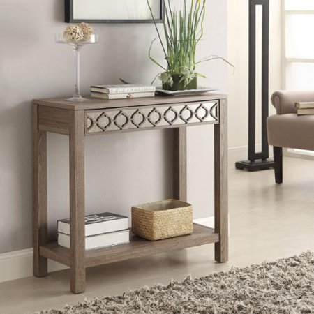 Office Star Products Helena Sun Bleached Oak Console Table
