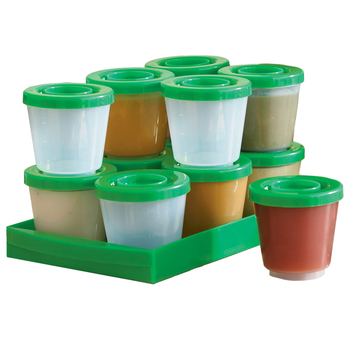 One Step Ahead Baby Food Containers - Safe for Freezer, Dishwasher, Microwave - Fresh N Freeze 2 Ounce Storage Container 12-Pack