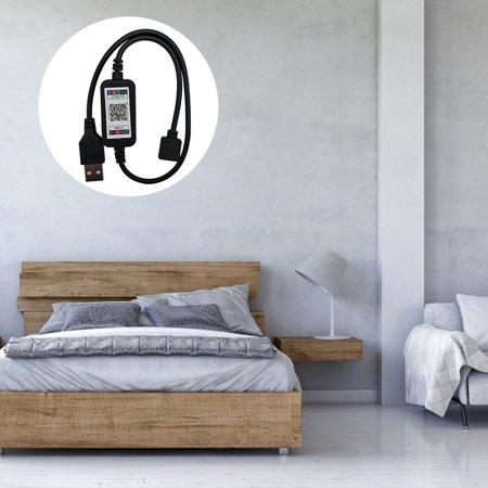 LeKing 5-24V Mobile Phone APP Intelligent Controller LED Mini Bluetooth Controller Wireless Dimmer for RGB LED Strip Light - image 3 of 9