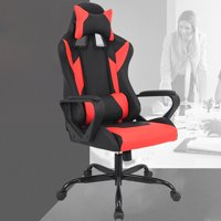Ergonomic High-Back Gaming Chair, Red