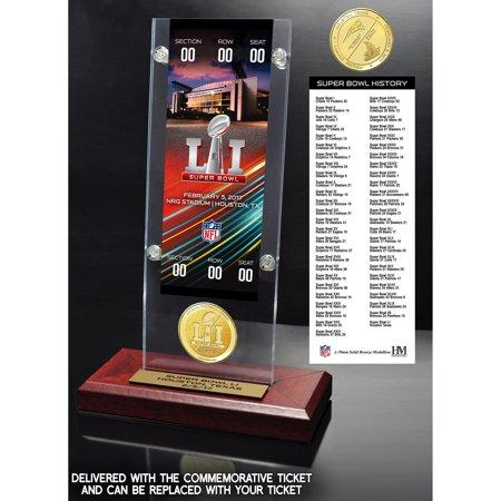 - Atlanta Falcons vs. New England Patriots Highland Mint Super Bowl LI Dueling Ticket & Bronze Flip Coin Acrylic Desktop - No Size