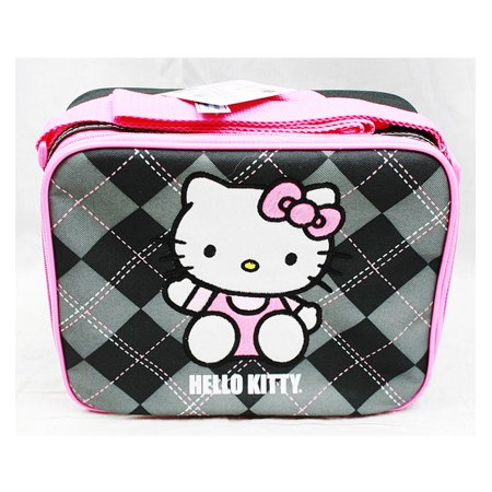 Bags Hello Kitty (Lunch Bag - Hello Kitty - Black Checker New Case Girls Gifts Licensed)