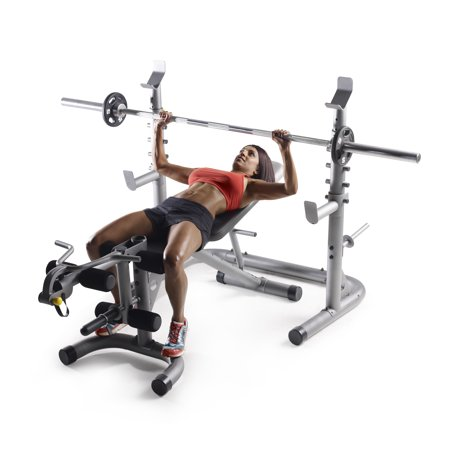 Gold's Gym XRS 20 Olympic Workout Rack with Safety Spotters