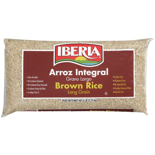 Iberia Long Grain Brown Rice, 5 lb
