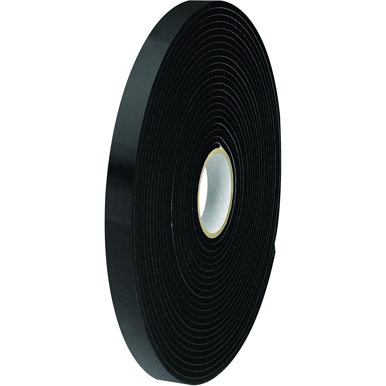 Tape Logic TLT954116 Double Sided Foam Tape, 1/16, 1/2 x 36 yd., Black Pack of 24