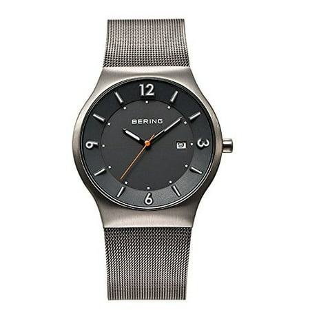 Water Resistant Sapphire Crystal Watch - Time 14440-077 Men's Solar Collection Watch with Mesh Band and scratch resistant sapphire crystal. Designed in Denmark. 14440-077