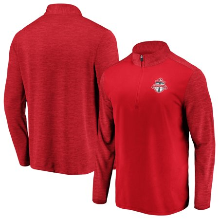 Toronto FC Fanatics Branded Iconic Practice Makes Perfect Quarter-Zip Pullover Jacket - Red ()