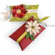 Sizzix Thinlits Die Set 7PK Box Pillow & Poinsettias by Jen Long