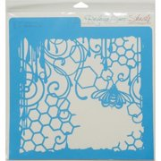Rebecca Baer RB-LARGE-1209 Stencil 11.75 x 11.75 in. - Honeycomb