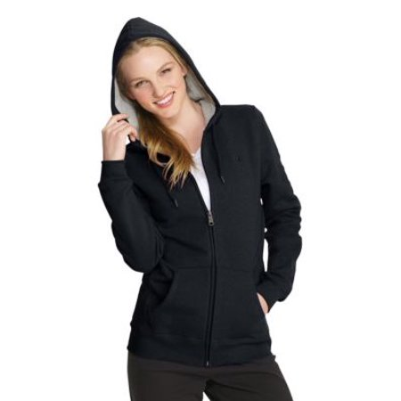 Champion Eco; Fleece Women's Full Zip Jacket, Black - S