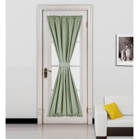 (ELLA) SAGE -TAUPE 1 Mix Color GEOMETRIC French Door Foam Backing Insulated Thermal Blackout Rod Pocket Curtain Panel 55