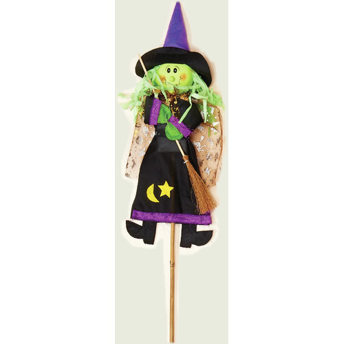 Worth Imports Witch on Stick Halloween Decoration