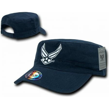 RapDom U.S. Air Force Hap Wings Logo The Private Mens Flat Top Cap [Navy Blue - Adjustable]