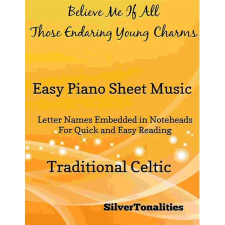 Believe Me If All Those Endearing Young Charms Easy Piano Sheet Music -
