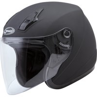 GMAX OF-17 Open Face Motorcycle/Scooter Helmet Matte Black