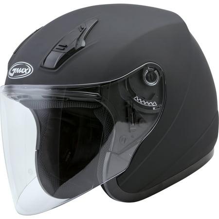 Gmax Motorcycle Helmets (GMAX OF-17 Open Face Motorcycle/Scooter Helmet Matte Black )