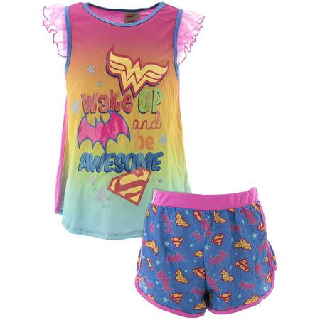 Girls License Pj Set-superheroes