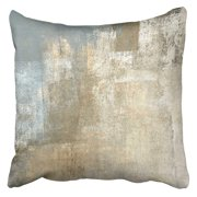 ECCOT Brown Contemporary Grey and Beige Abstract Painting Gray Modern Neutral Gallery Layers Pillow Case Pillow Cover 20x20 inch