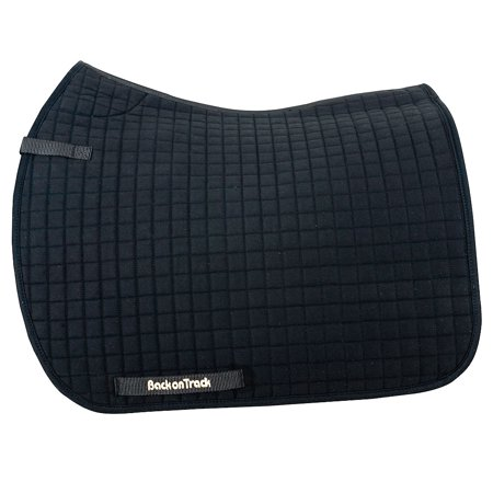 22X21 BACK ON TRACK HORSE THERMAL WARMTH THERAPEUTIC DRESSAGE SADDLE PAD BLACK